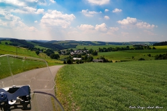 Unterwegs zur Burg Reuland in Belgien